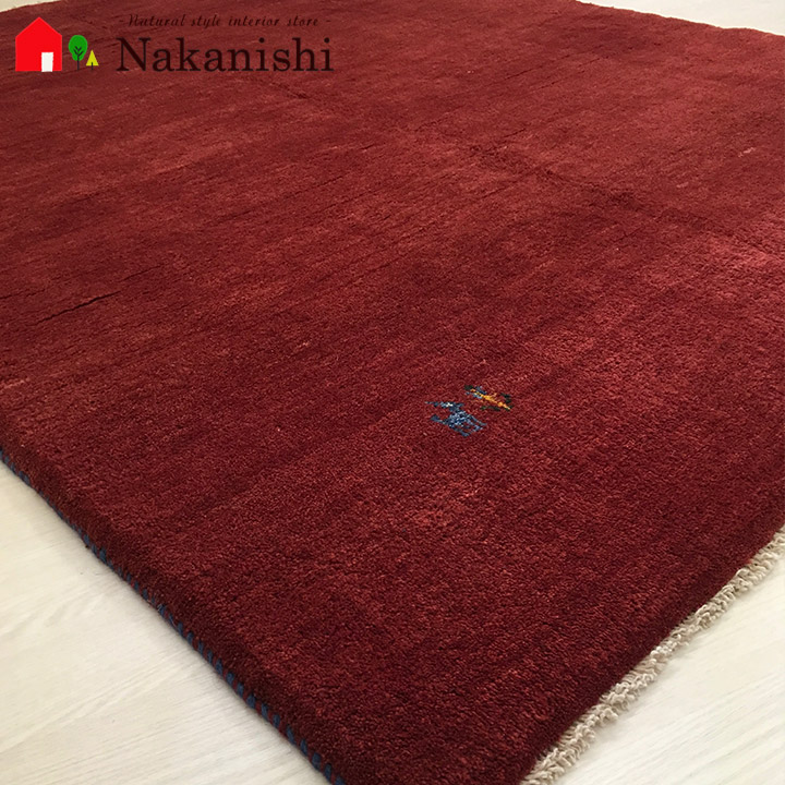 【ギャッベラグ 約1.5畳 約153×196cm Plain red gabbeh part2】GABBEH・ギャッペ(ギャべ)・イラン製・カーペット・ラグ・絨毯(じゅうたん)・レッド系