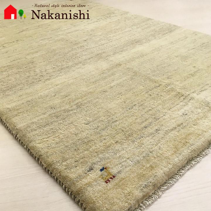 【ギャッベラグ 約100×152cm 11532】GABBEH・ギャッペ(ギャべ)・イラン製・カーペット・ラグ・絨毯(じゅうたん)・ナチュラル系