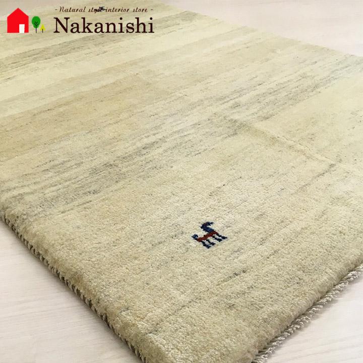 【ギャッベラグ 約102×153cm 11541】GABBEH・ギャッペ(ギャべ)・イラン製・カーペット・ラグ・絨毯(じゅうたん)・ナチュラル系