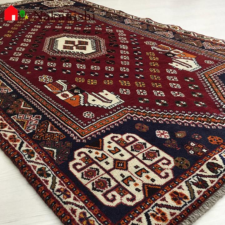【ギャッベラグ シラーズ NT11280 オールド】GABBEH・ギャッペ(ギャべ)・イラン製・カーペット・ラグ・絨毯(じゅうたん)・約116×192cm・レッド系