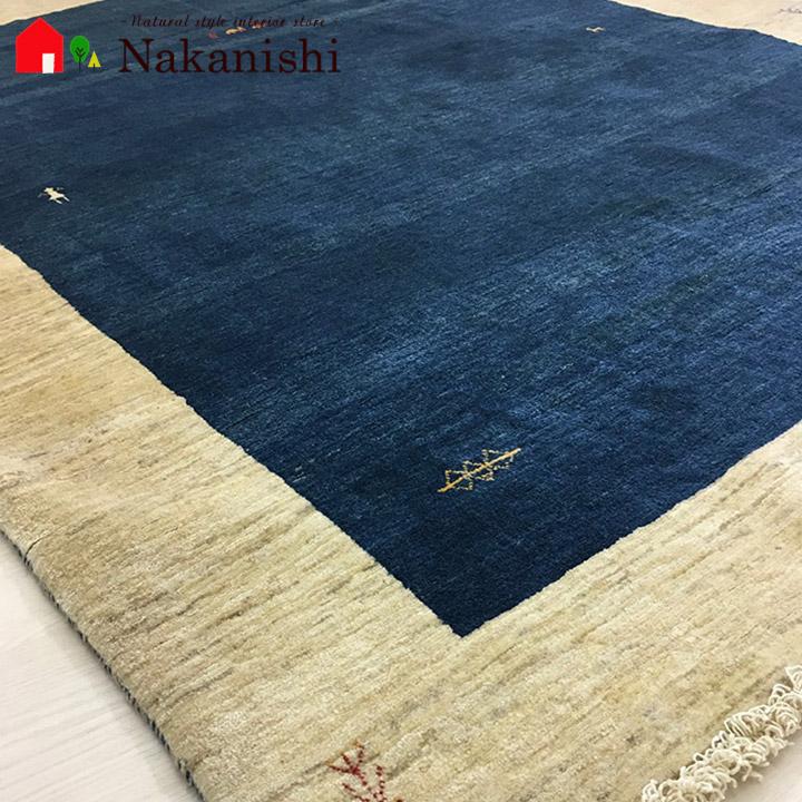 【ギャッベラグ 約3畳 PLRT-322287】GABBEH・ギャッペ(ギャべ)・イラン製・カーペット・ラグ・絨毯(じゅうたん)・約167×217cm・ブルー系