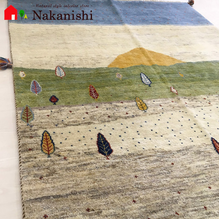 【ギャッベラグ 約1.5畳 万里一空】GABBEH・ギャッペ(ギャべ)・イラン製・カーペット・ラグ・絨毯(じゅうたん)・約156×192cm・マルチカラー