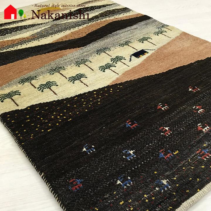 【ギャッベラグ motasyakera 約128×81cm】GABBEH・ギャッペ(ギャべ)・イラン製・カーペット・ラグ・絨毯(じゅうたん)・マルチカラー
