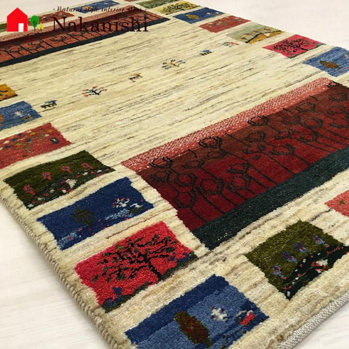 【ギャッベラグ 思い出の扉 約123×81cm】GABBEH・ギャッペ(ギャべ)・イラン製・カーペット・ラグ・絨毯(じゅうたん)・カラフル