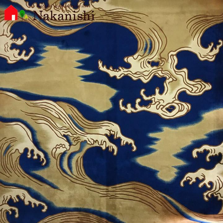 【中国段通 ウール 約4.5畳用】「松前」絨毯(じゅうたん)・カーペット・ラグ・毛(ウール)100%・約259×259cm・90段・波模様・個性的【代引不可】