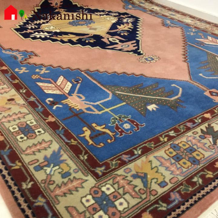 【中国段通 ウール 約4畳用】「インカのめざめ」イーストペルシャ・絨毯(じゅうたん)・カーペット・ラグ・毛(ウール)100%・約183×275cm