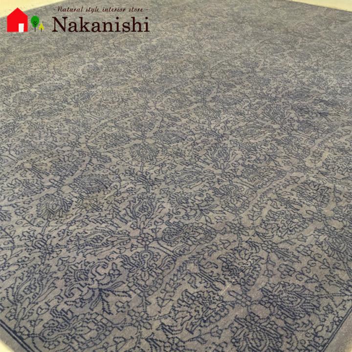 訳あり【パキスタン 約2畳用】「ガンダーラ」絨毯(じゅうたん)・カーペット・ラグ・毛100%・約204×203cm