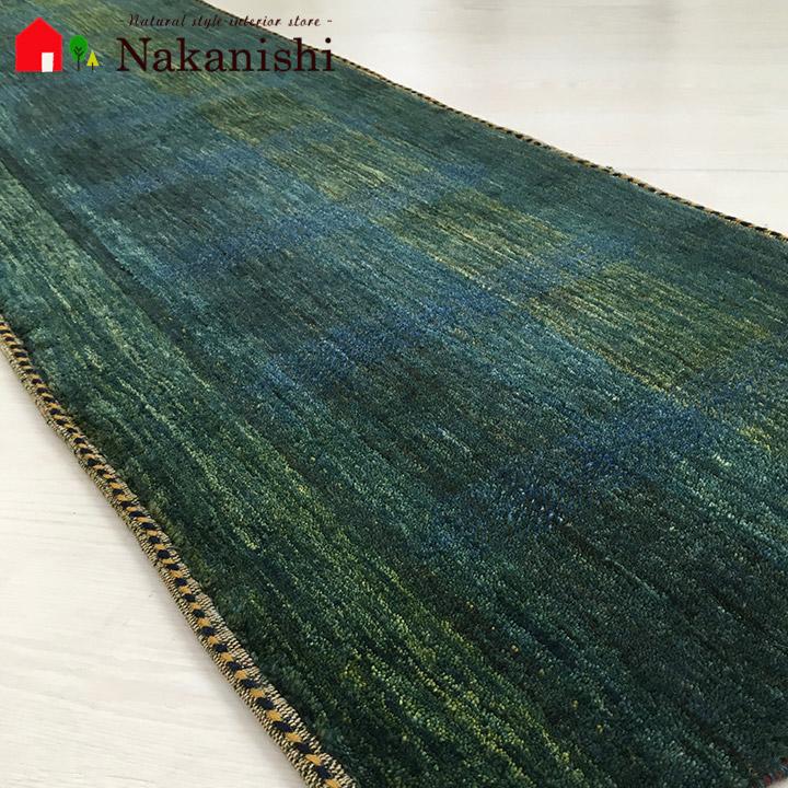 【ギャッベ ランナー 約55×175cm ふきどおがわ】GABBEH ギャッベ(ギャベ)・イラン製・ロング・ランナー・キッチンマット・絨毯(じゅうたん)・カーペット・ラグ・グリーン系