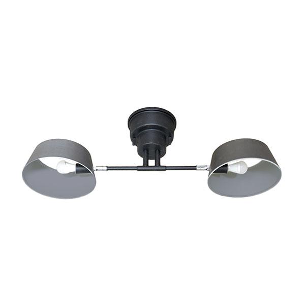 ELUX エルックス lc10909vs Capiente2 カピエンテ2 2灯シーリングライト ヴィンテージ風 ヴィンテージシルバー 照明 照明器具 【電球別売】
