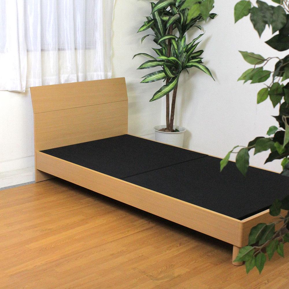 オリジナル 木製ベッドフレーム シングル S ブラウン ナチュラル 【幅98×奥行201.8×高さ75cm】