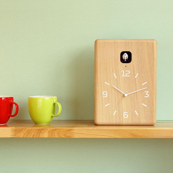 掛け時計/鳩時計/カッコー時計 ククLemnos (レムノス) / cucu【奈良 雄一】 インテリア 雑貨 おしゃれ シンプル ナチュラル とけい 家具 掛時計 かけ時計 壁掛け時計 かわいい 子供部屋 モダン