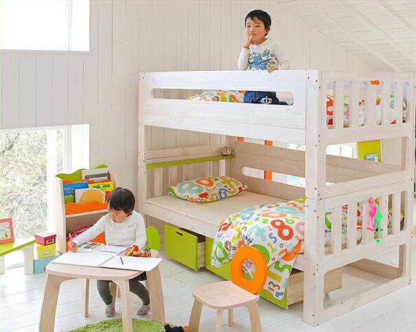 新版 白くてカワイイ♪安全設計エコ塗装2段ベッド/二段ベッド(すのこベッド)※きすのこベット セパレート 寝具 シンプル おしゃれ シンプル ナチュラル モダン モダン 子供用ベッド 子供用ベット 二段ベット 頑丈 スノコベッド ロータイプ セパレート, 神棚の山丸:ca5bef59 --- ltcpackage.online
