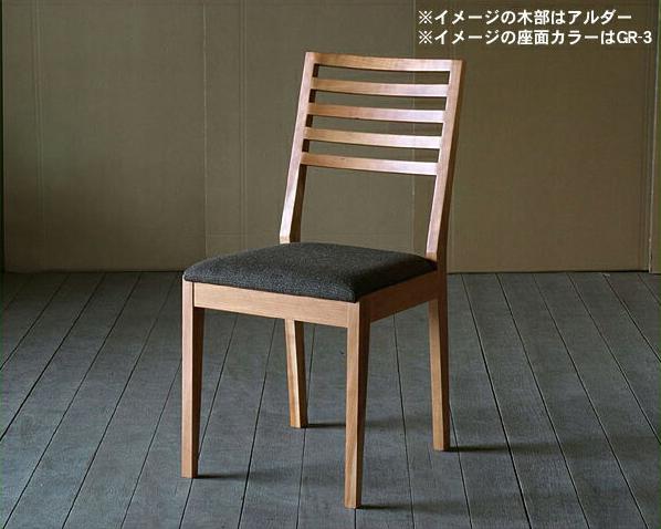 無垢の木製チェアー【モリス】(肘無し椅子)※キャンセル不可