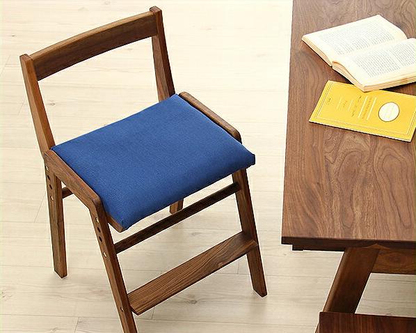 【杉工場】【スピカ】すっきりシンプルデザインの学習椅子・学習チェア(布座)ブラウン(ウォールナット) リビング学習 ダイニング学習