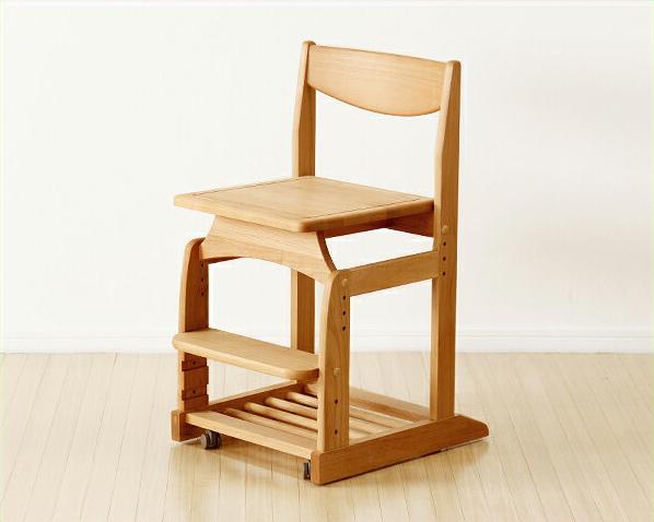 木のぬくもりがあり使いやすい学習椅子 学習チェア(ナチュラル) 学習机 学習デスク 勉強机 いす 学習イス チェアー こども 子供部屋 キッズ デスクチェア おすすめ おしゃれ シンプル モダン 高さ調節 リビング学習 ダイニング学習