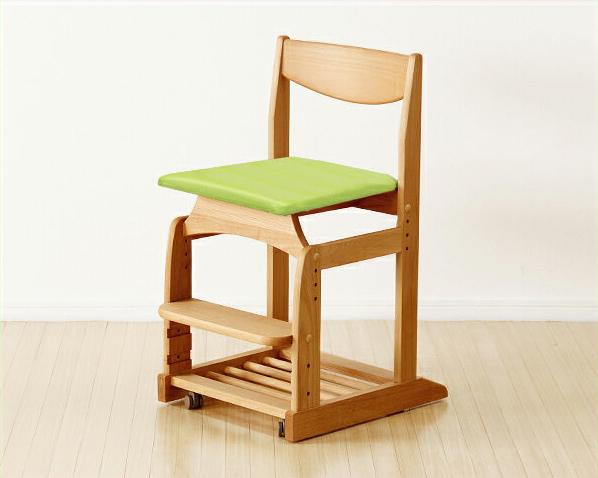 木のぬくもりがあり使いやすい学習椅子・学習チェア(グリーン) 学習机 学習デスク 勉強机 いす 学習イス チェアー こども 子供部屋 キッズ デスクチェア おすすめ おしゃれ シンプル ナチュラル モダン 木製