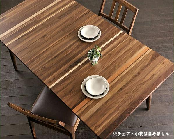 1つ1つ違った表情が楽しめる木製ダイニングテーブル(幅150cm)ダイニング テーブル