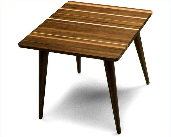 1つ1つ違った表情が楽しめる木製ダイニングテーブル(幅80cm) ダイニング テーブル 木 無垢材 デスク 机 四角 長方形 シンプル ナチュラル スタイリッシュ シャープ 北欧 高級感 リビング 食卓 おしゃれ 食事 日本製 天然木 カフェ