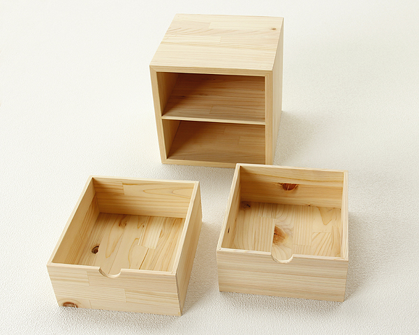 Hinokicag Taisho collection mini cube storage drawer is (1) Interior housewarming moving celebration fashionable simple natural shelf small wooden caskets spring