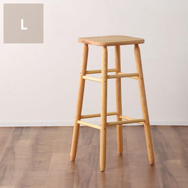 La Luz(ラルース)キッチンスツールLカウンターチェア ハイチェア いす イス 椅子 チェアー チェア シンプル ナチュラル カントリー 北欧 可愛い キッチン リビング 玄関 作業 ホワイトアッシュ ワックス仕上げ 日本製 国産 おしゃれ 棚 台
