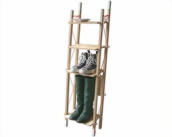 abode(アボード)ラック LADDER RACK Singleデザイナー 松尾 直哉※代引き不可 木製ラック はしご 折りたたみ 折り畳み シェルフ ディスプレイ 棚 チェスト 壁付け 壁掛け 北欧 靴収納 玄関 コンパクト 省スペース 日本製