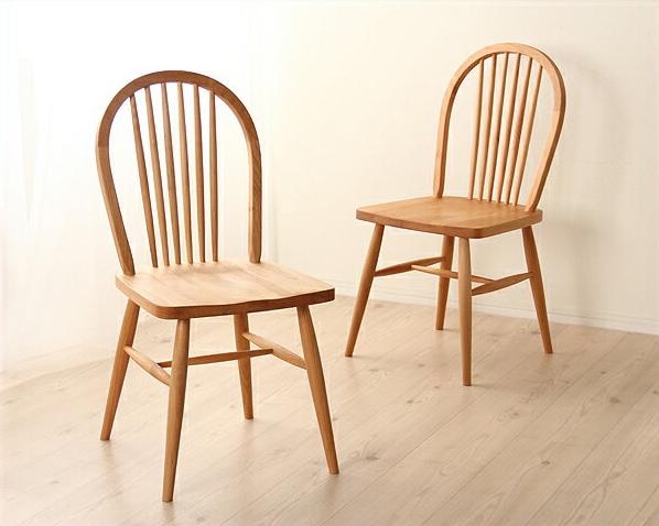 木製ダイニングチェアー2脚セット アルダー 無垢 カントリー シンプル ナチュラル 北欧 食卓 椅子 いす イス チェア リビング おしゃれ オシャレ お洒落 キッチン 明るい 優しい なめらか 美しい カフェ アームレス 肘なし 在宅