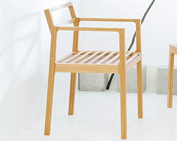 竹のダイニングチェア【TENSION】肘付きタイプ【アジアン 和】