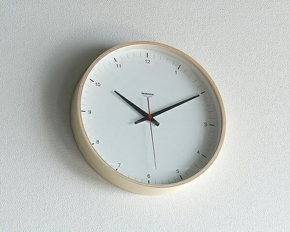 Lemnos(レムノス)掛け時計 プライウッドクロック T1-017(1)クロック 壁掛け時計 グッドデザイン受賞