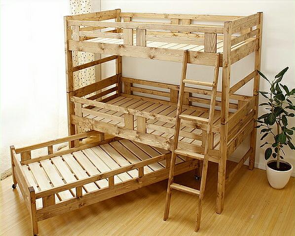 国産品で自然塗料!子供に優しい親子ベッド