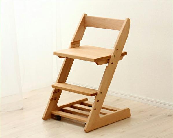 【杉工場】【ミラ】木製上下可動椅子学習椅子・学習チェア