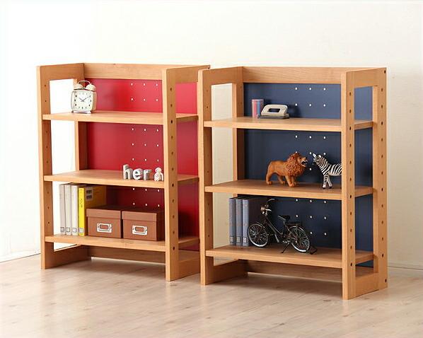【杉工場】女性視点デザインの木のロー書棚・本棚ラックMUCMOC(ムックモック)