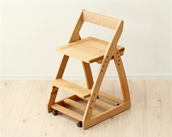 【杉工場】【レオ】木製上下可動椅子(板座) 学習椅子 学習チェア おすすめ