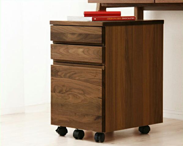 【杉工場】【クッカ】天然木ウォールナットの温もりたっぷりシンプルな木製ワゴン