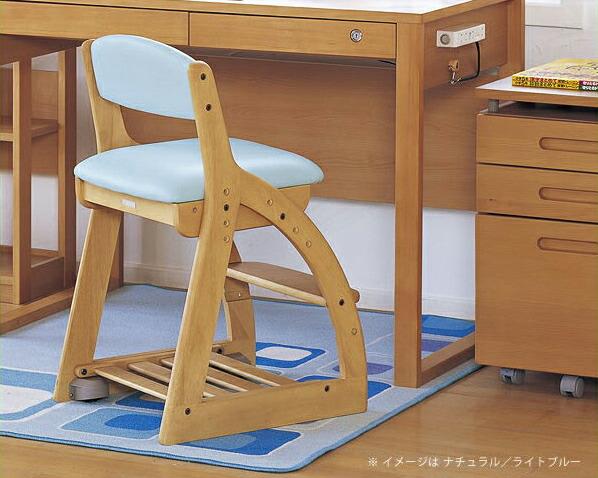 フォーステップチェア(レザータイプ) 学習椅子・学習チェア 【koizumi】コイズミ リビング学習