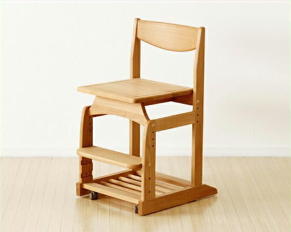 木のぬくもりがあり使いやすい学習椅子・学習チェア(ナチュラル)