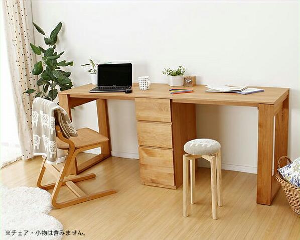 明るく爽やかな書斎机(引出し付き)PCデスク・学習机・学習デスク※キャンセル不可