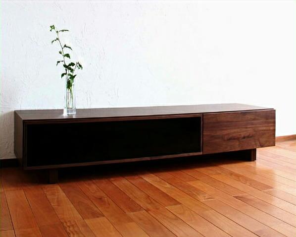 木目とガラスの対比が際立つテレビ台・テレビボード(幅160cm)【テレビスタンド】【AV収納】