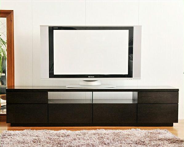 流れる木目がシックでシンプルなテレビボードタモ 幅180cm