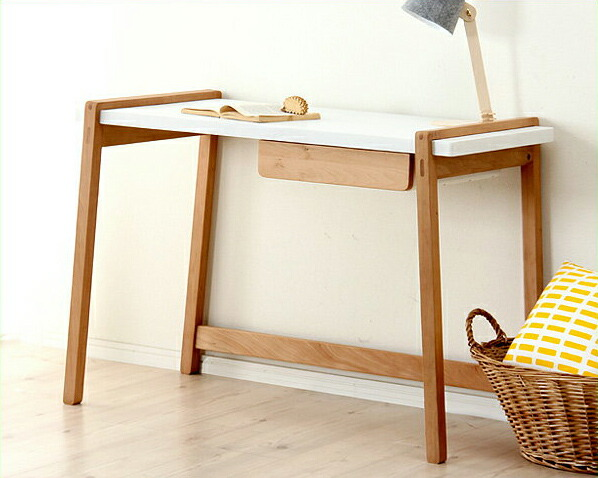 ドイツのデザイナーが設計した北欧テイストの学習机・学習デスクTORINOKO(とりのこ)105cm幅