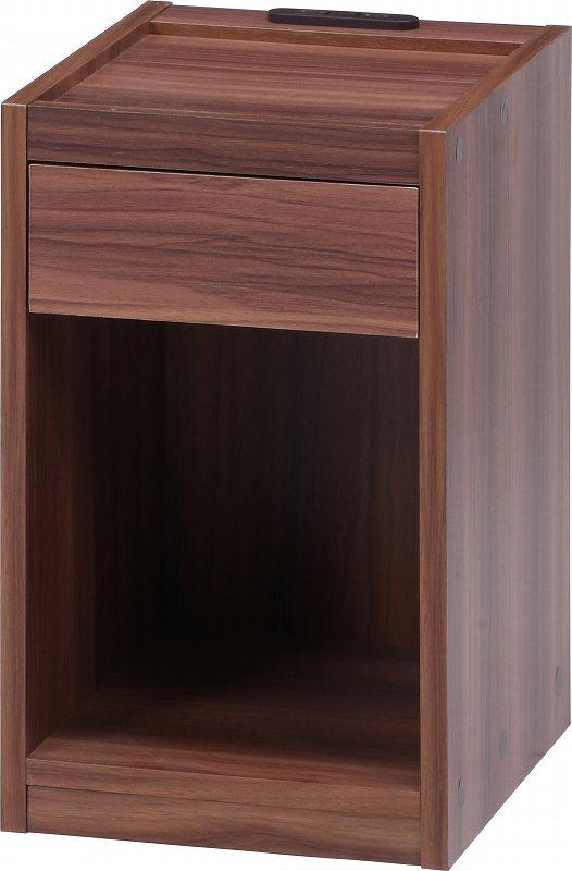 テーブル サイドテーブル ナイトテーブル コンセtント付き 木製テーブル【代引不可】