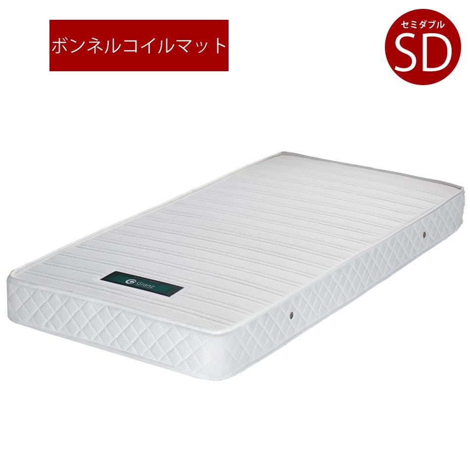☆スーパーSALE10%OFF割引品☆セミダブルマットレス マットレス セミダブル ボンネルコイルマットレス 16cm厚