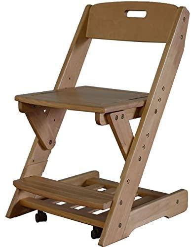 【ミドルブラウン色】学習チェア 木製 学習イス 送料無料 木製無垢 EZ-2 おすすめ 木製チェア チェア― チェア 椅子 学習イス 勉強イス ダイニングチェア 北欧 風 家具 昇降 キャスター付き キャスター ミドルブラウン 360度回転 3段階 おしゃれ