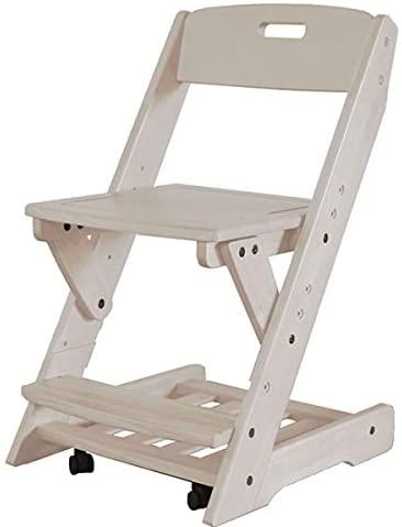 【ホワイト色】学習チェア 木製 学習イス 送料無料 木製無垢 EZ-2 おすすめ 木製チェア チェア― チェア 椅子 学習イス 勉強イス ダイニングチェア 北欧 風 家具 昇降 キャスター付き キャスター ホワイト 360度回転 3段階 おしゃれ