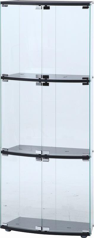 コレクションケース コレクションボード ガラスコレクション 背面ミラー フィギュアケース ディスプレイラック ガラスディスプレイケース3段 TMG-G117【代引不可】