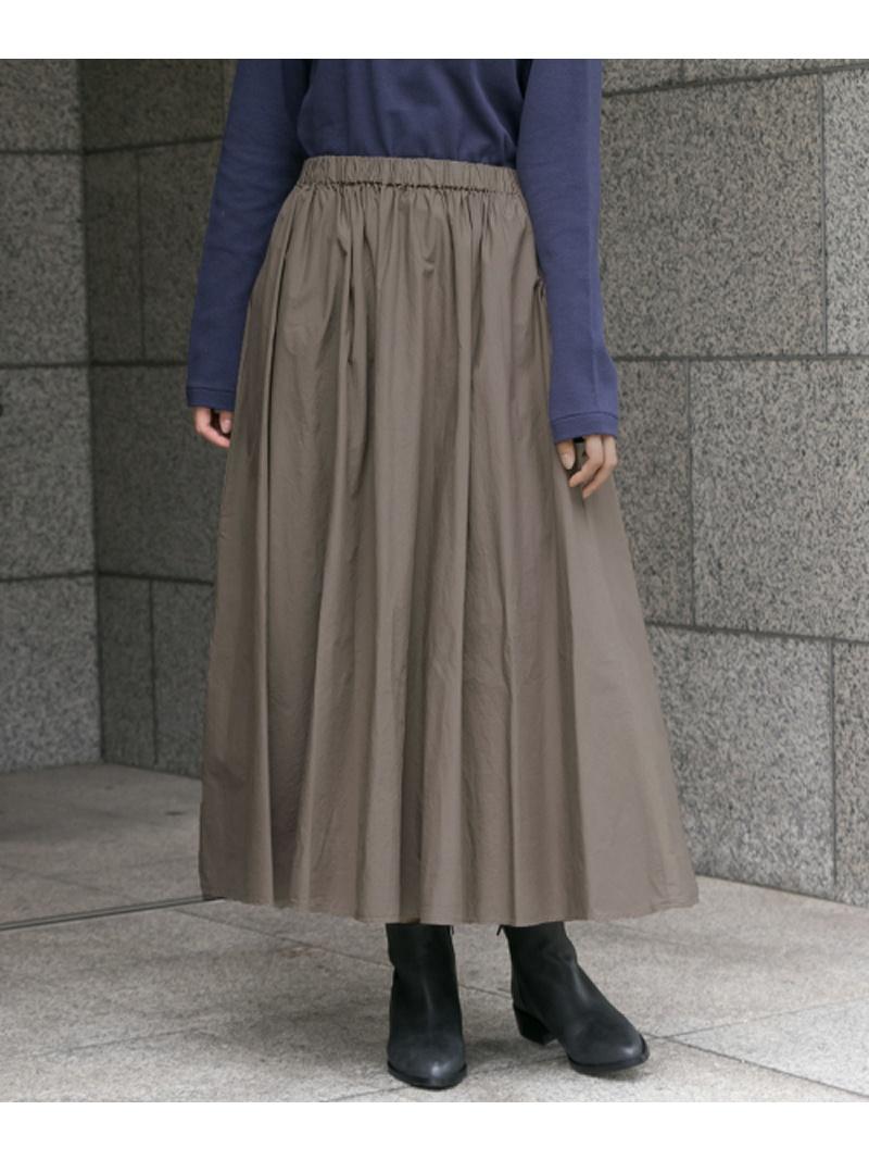 [Rakuten BRAND AVENUE]ギャザーロングオーバーダイスカート かぐれ カグレ スカート【RBA_S】【送料無料】