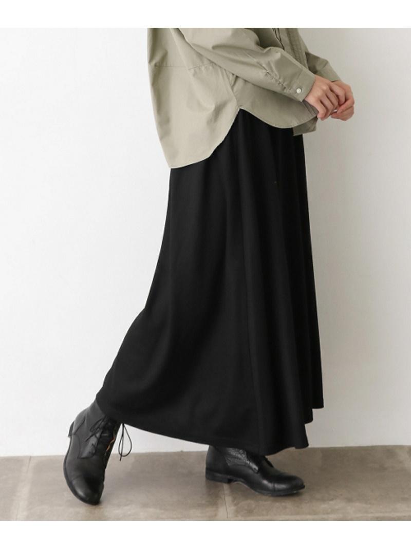 [Rakuten BRAND AVENUE]ウールカットロングスカート かぐれ カグレ スカート【送料無料】