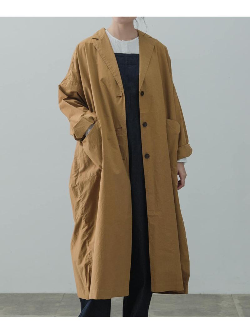 [ Fashion]コットンシルクビッグコート かぐれ カグレ コート/ジャケット コート/ジャケットその他 ブラウン ブラック【送料無料】:かぐれ
