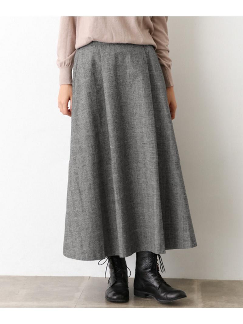 [Rakuten BRAND AVENUE]起毛綿麻チェックスカート かぐれ カグレ スカート【送料無料】