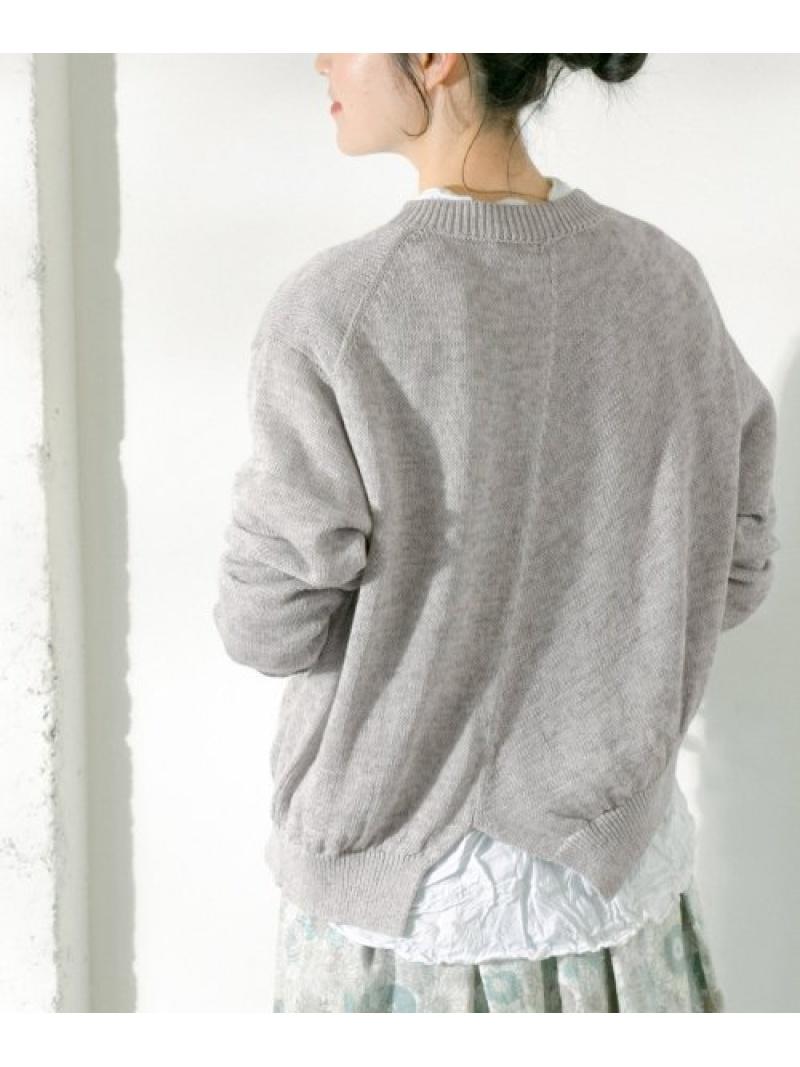 [Rakuten Fashion]VlasBlommeアシンメトリーショートカーディガン かぐれ カグレ ニット カーディガン グレー【送料無料】