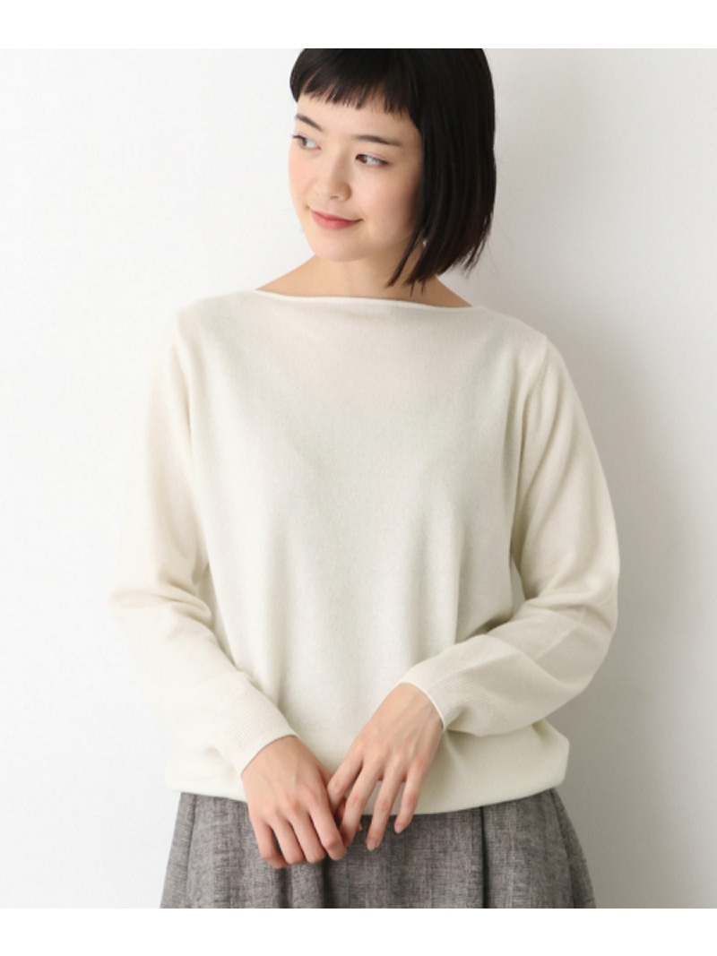 [Rakuten BRAND AVENUE]カシミヤボートネックニット かぐれ カグレ ニット【送料無料】